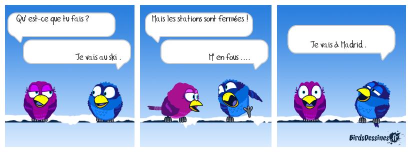 neige blanche et humour noir