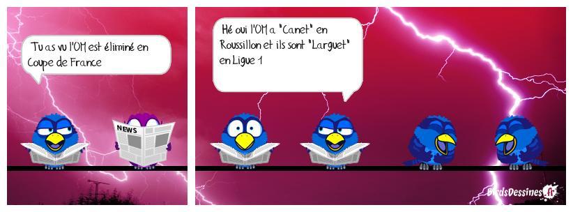 L'élimination de l'OM en Coupe de France...........