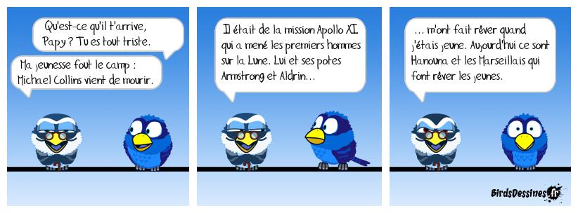 R. I. P. Monsieur Michael Collins 🚀🌙😪