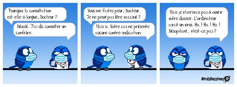 💉Au centre de vaccination 😁💻🔨