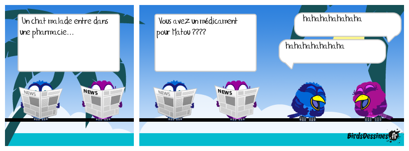 Le chat malade