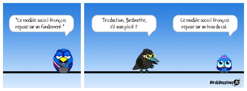 Traduction sur le fil