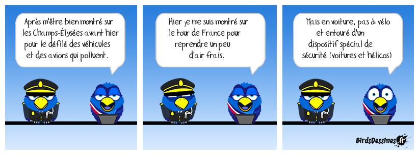 Macron se fait un p'tit kiff au Tour de France