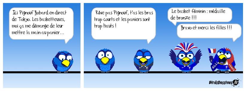 les basketteuses françaises : médailles de bronze !