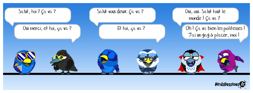 Les commentaires des Birds.
